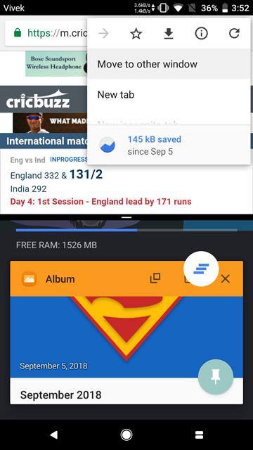 Dual tab viewing on Chrome