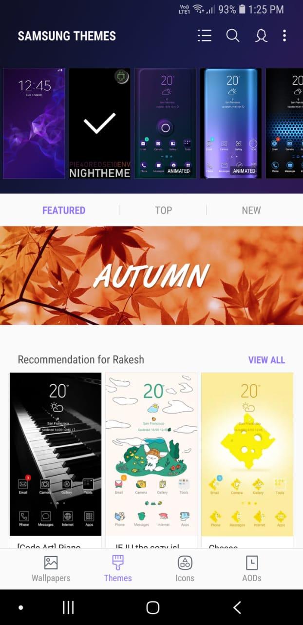 Install Samsung Experience 10 Night Theme on Galaxy S9, S8