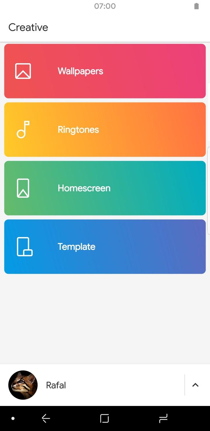 Creative App Home White