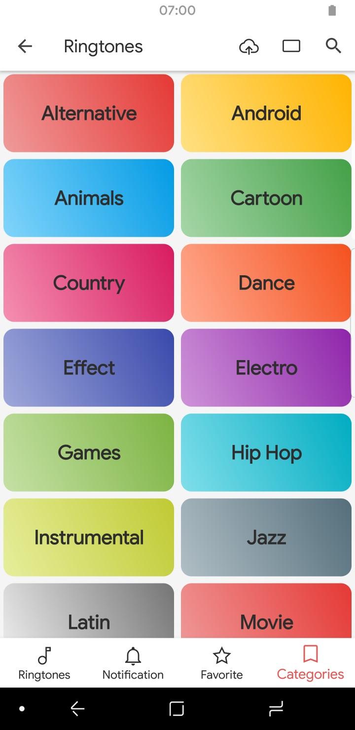 Creative App Sounds Categories