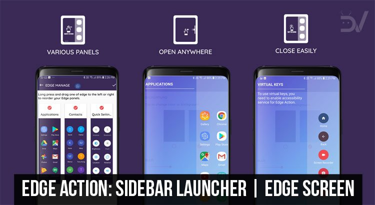 Get Sidebar Launcher & Edge Screen on Any Android with Edge