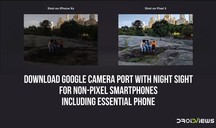 Download Google Camera Port with Night Sight for non-Pixel devices including Essential Phone