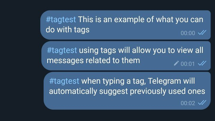 Telegram Cloud Tips and Tricks Tags