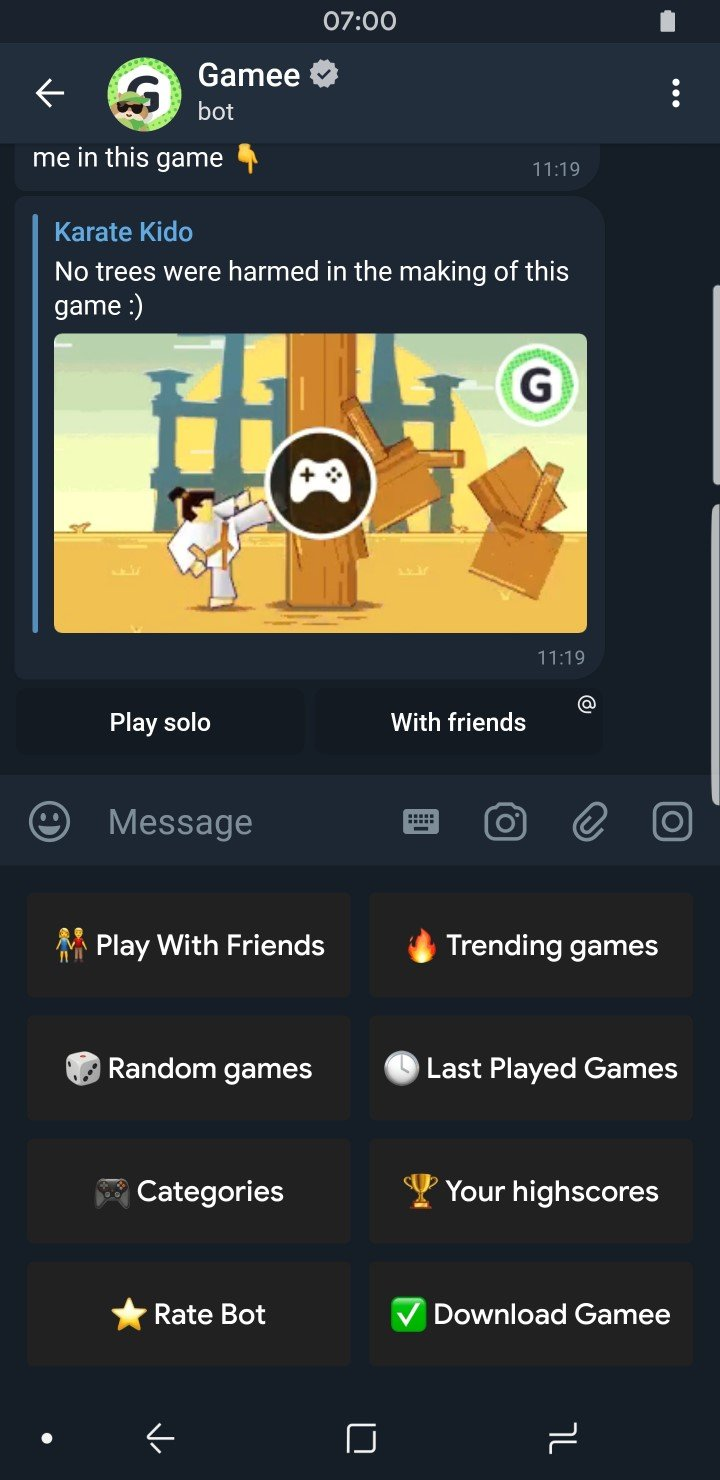 Telegram Features Game Bot Gamee Features