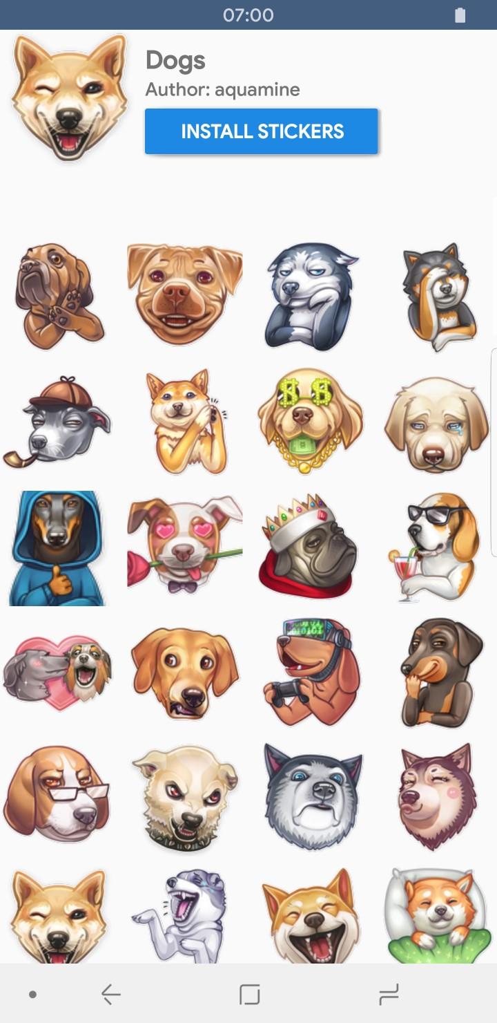Telegram Features Stickers App Pack