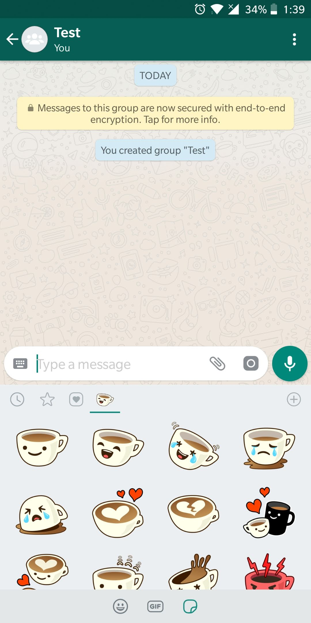Sticker pack available by default on WhatsApp