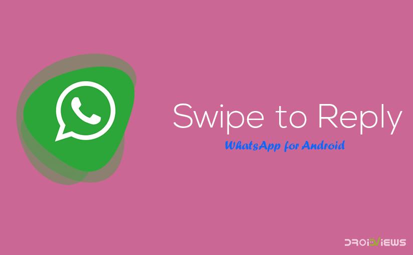 Swipe to Reply on WhatsApp
