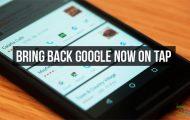 Restore Google Now on Tap