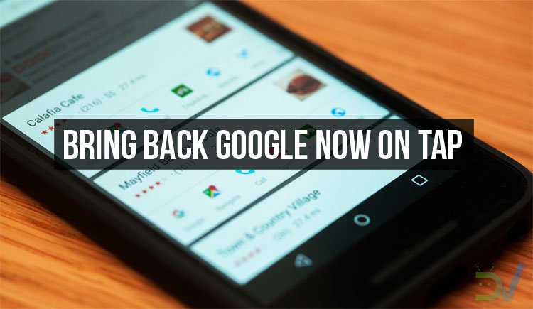 Restore Google Now on Tap