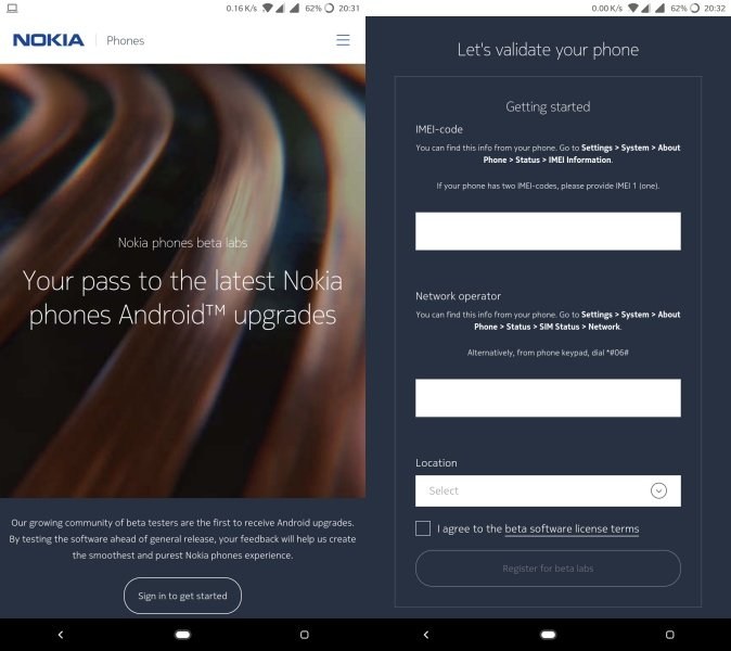 nokia 6.1 plus android pie beta ota