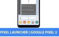 Pixel Launcher from Google Pixel 3