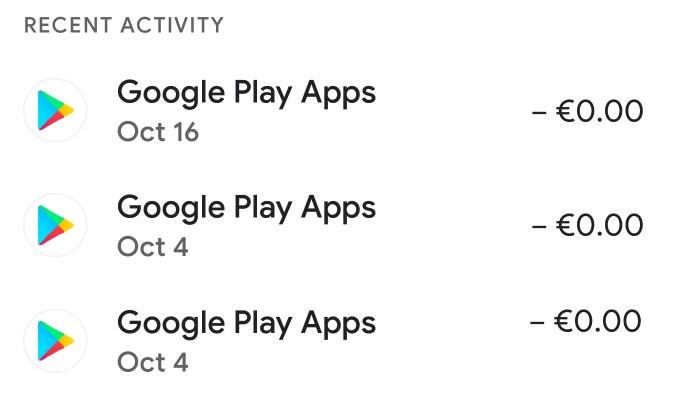 Google Pay History