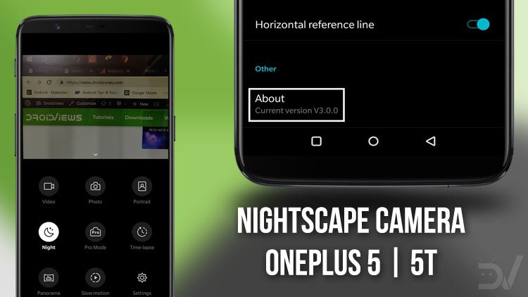 Download NightScape Camera APK for OnePlus 5 & 5T | DroidViews