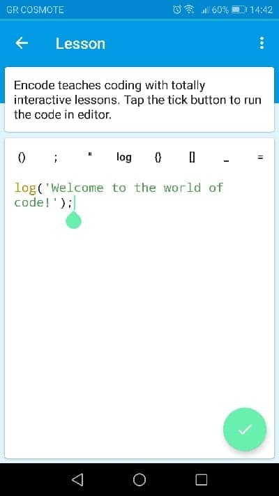 encode coding app android