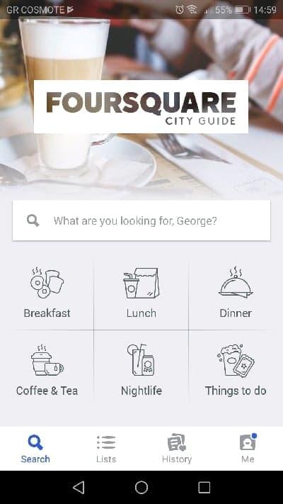 FourSquare- Travel Apps