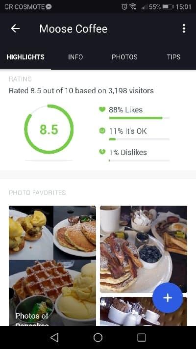FourSquare restauranr review