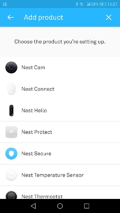 nest home app add devices