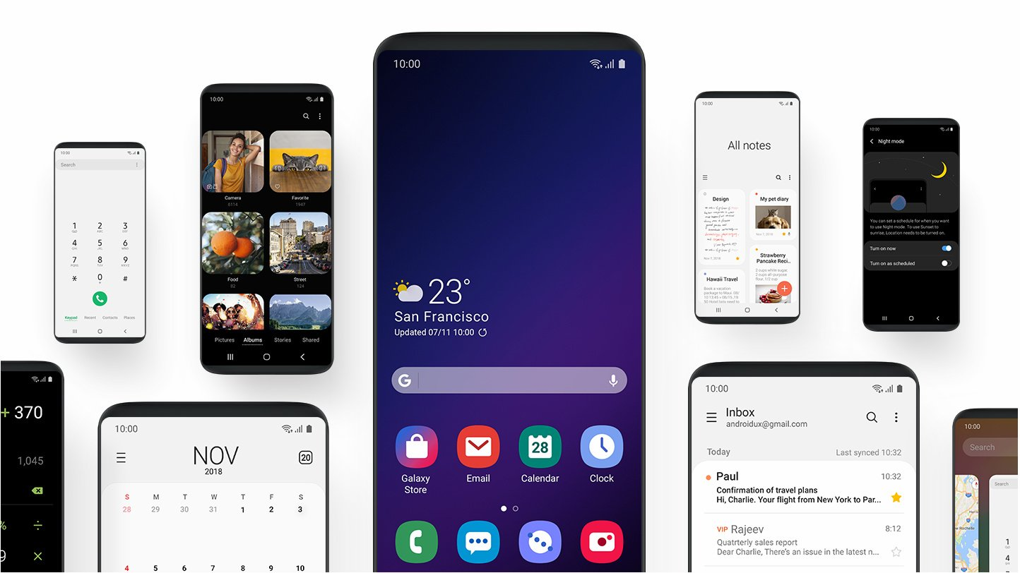 Samsung Themes for One UI Beta One UI Oveview