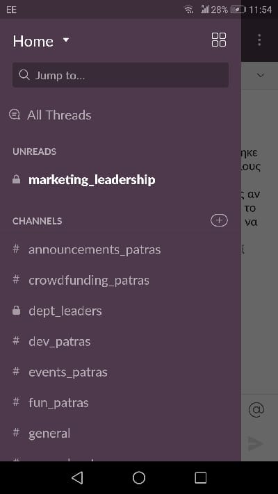 Slack group chat app