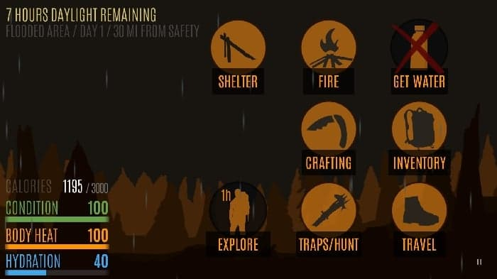 Survive game settings