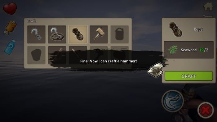 Survival on Raft game craft