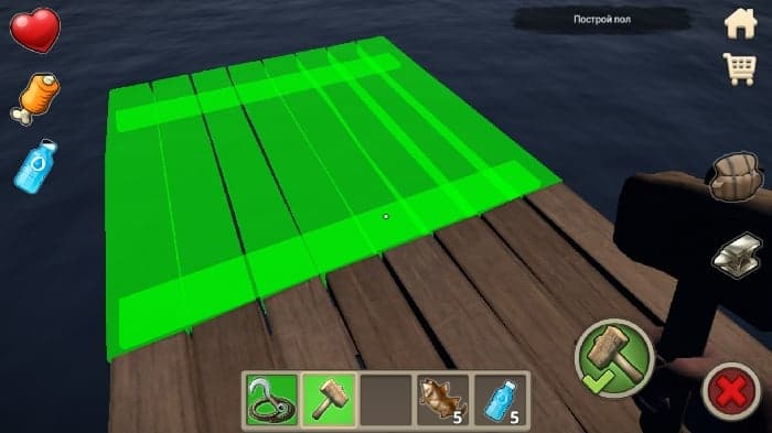 Survival on Raft android game