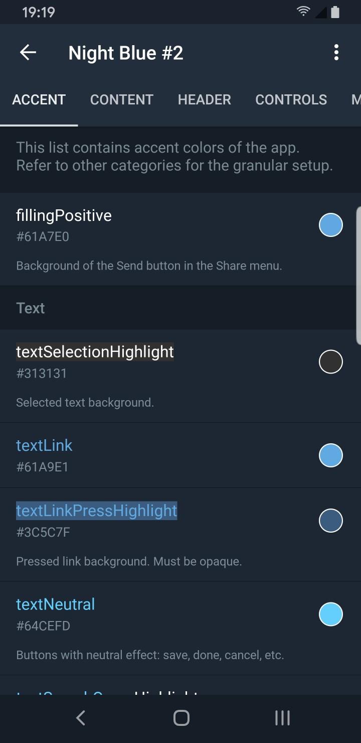 Telegram Theme Creator Accents