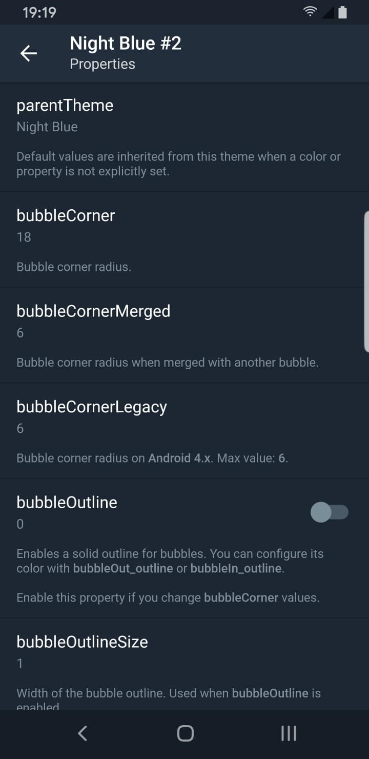 Telegram Theme Creator Options