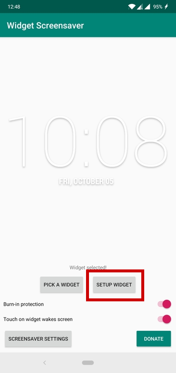 Add Widgets To Screensaver On Android With Widget Screensaver