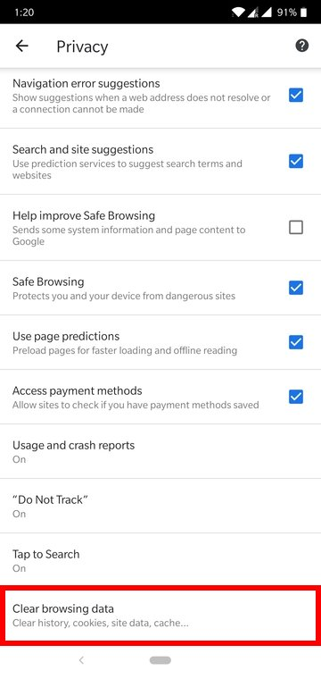 How to Clear Cache and Browser Data in Google Chrome for Android