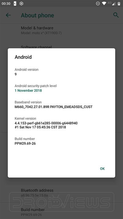 Android 9.0 Pie Firmware on Moto X4