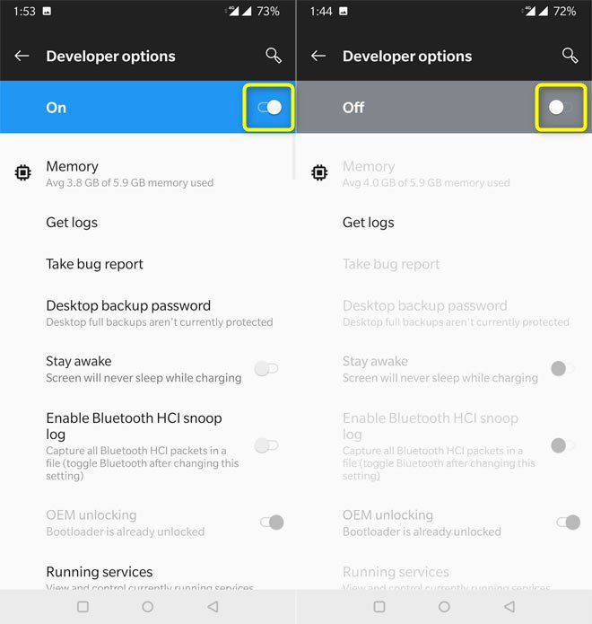 Turn Off Developer Options on Android Devices - Tutorial