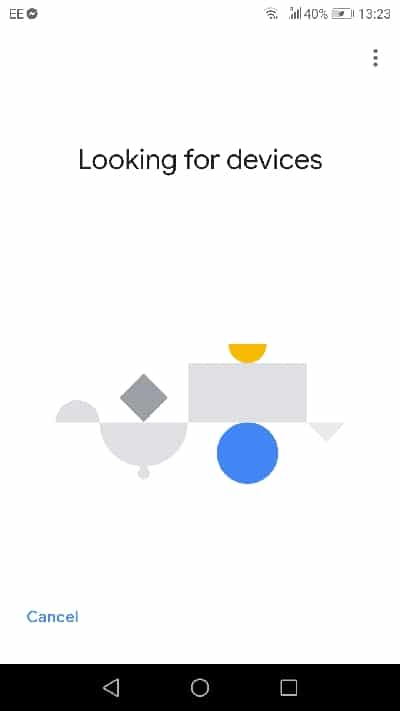 google home search device