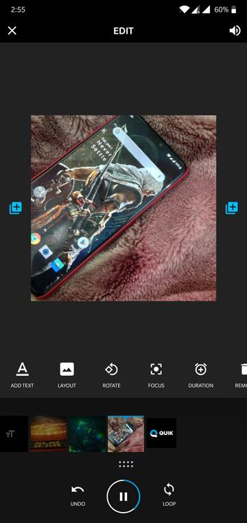 how to add photo in video android