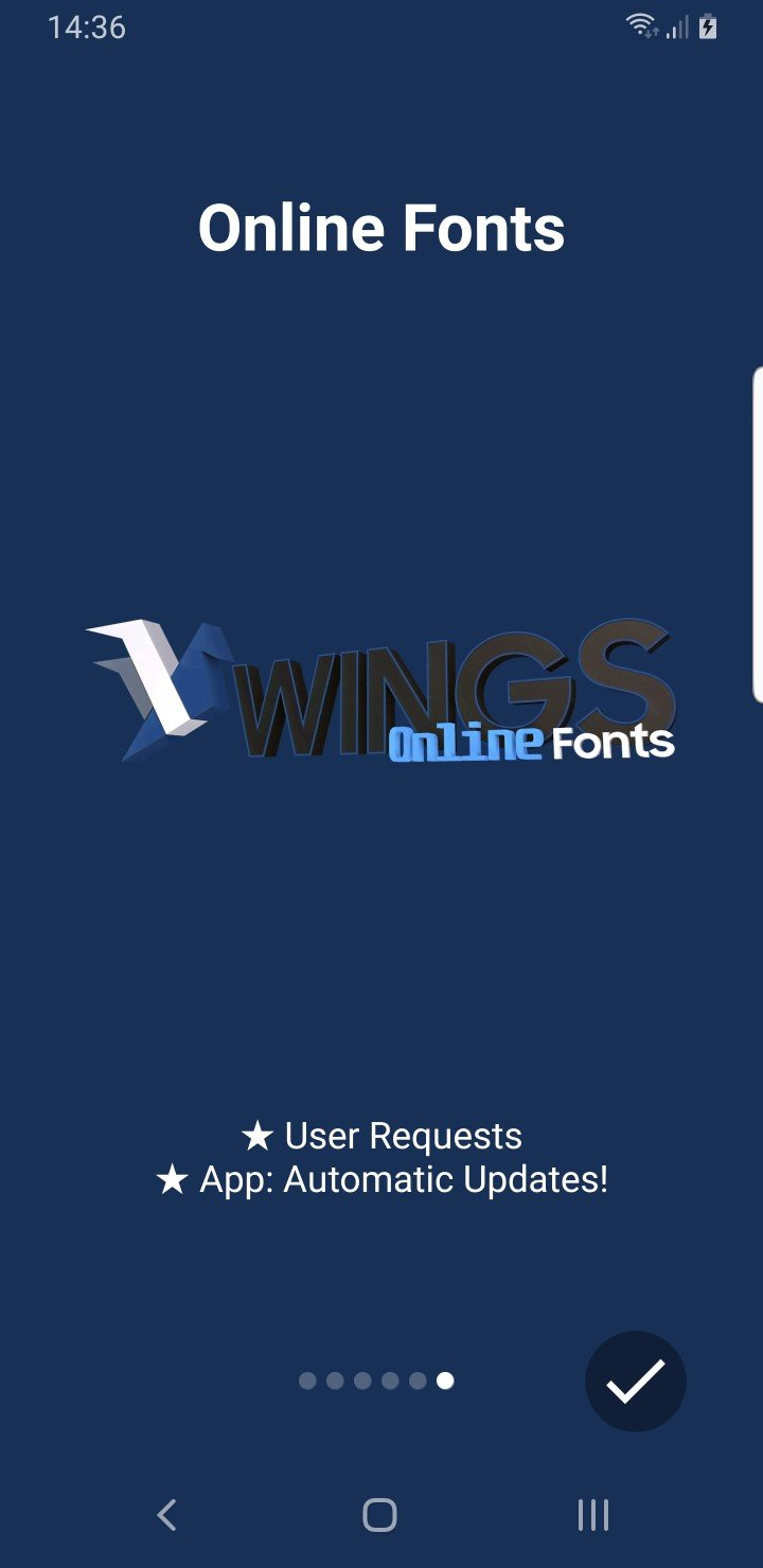 Custom Samsung Fonts with Samsung Wings Fonts 3