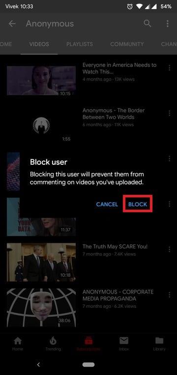 Block Unwanted YouTube Videos