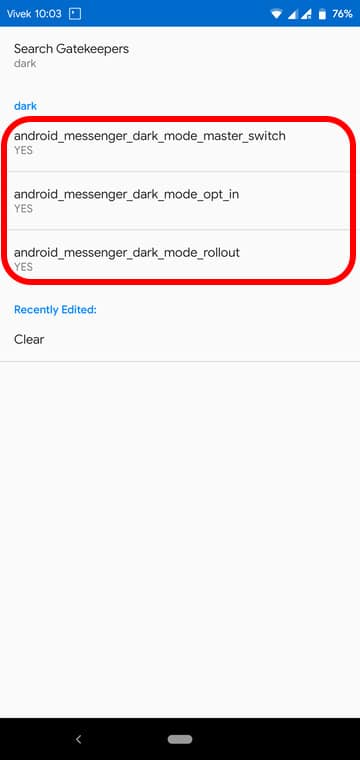 Enable Dark Mode on Facebook Messenger (Root)