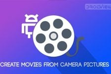 Turn camera pictures into movie