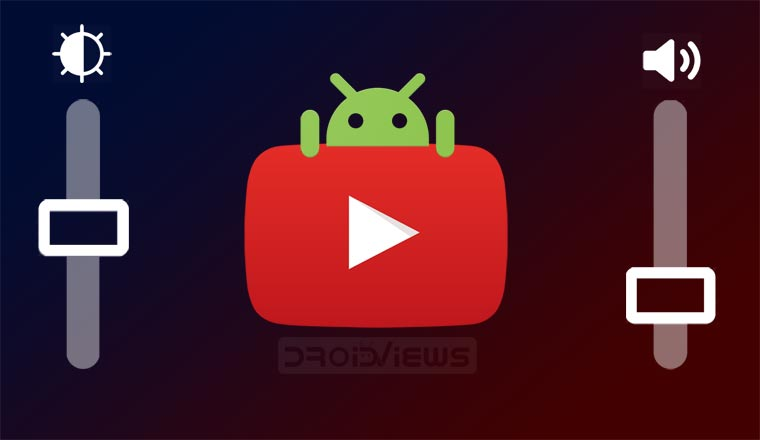 YouTube swipe controls