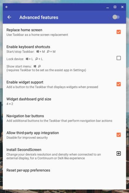 Taskbar Android App