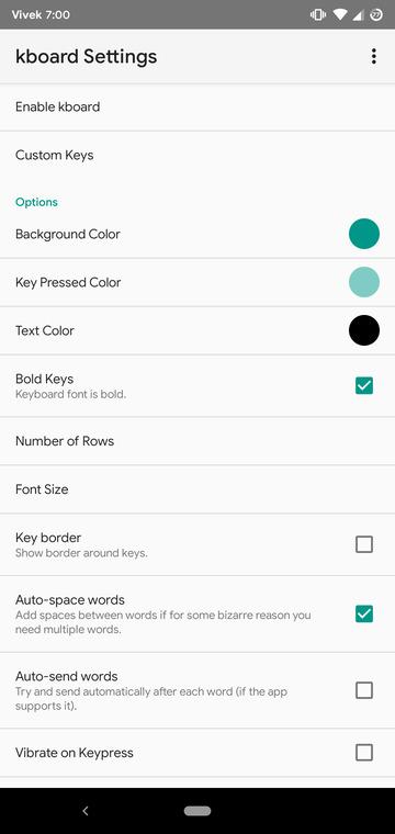 Kboard keyboard app