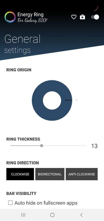 configure Energy Ring