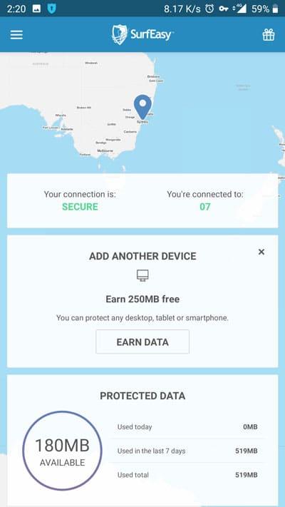 enable vpn service
