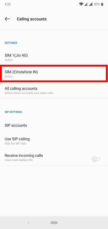 enable call forwarding