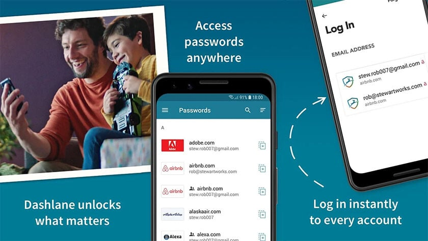 Dashlane -password managers apps android