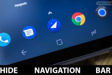 Hide Navigation Bar on Android