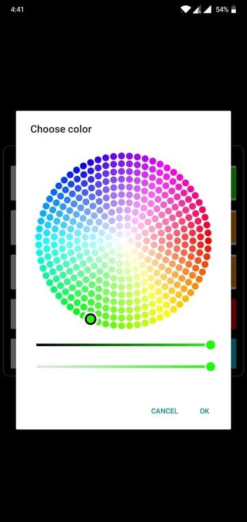 notch battery indicator color