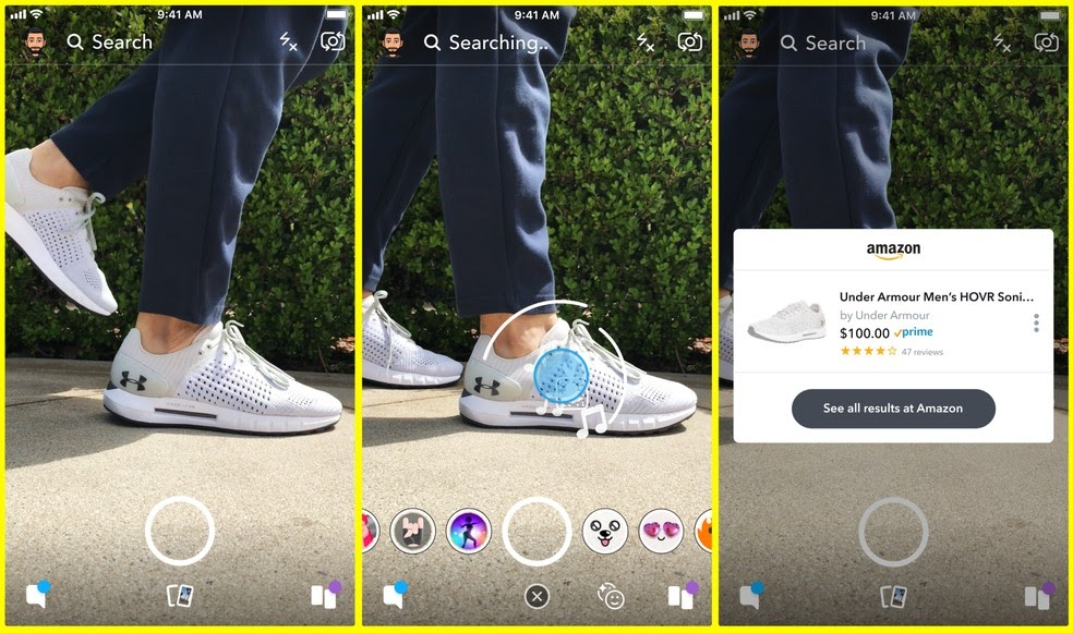 Amazon Powered Snapchat Camera