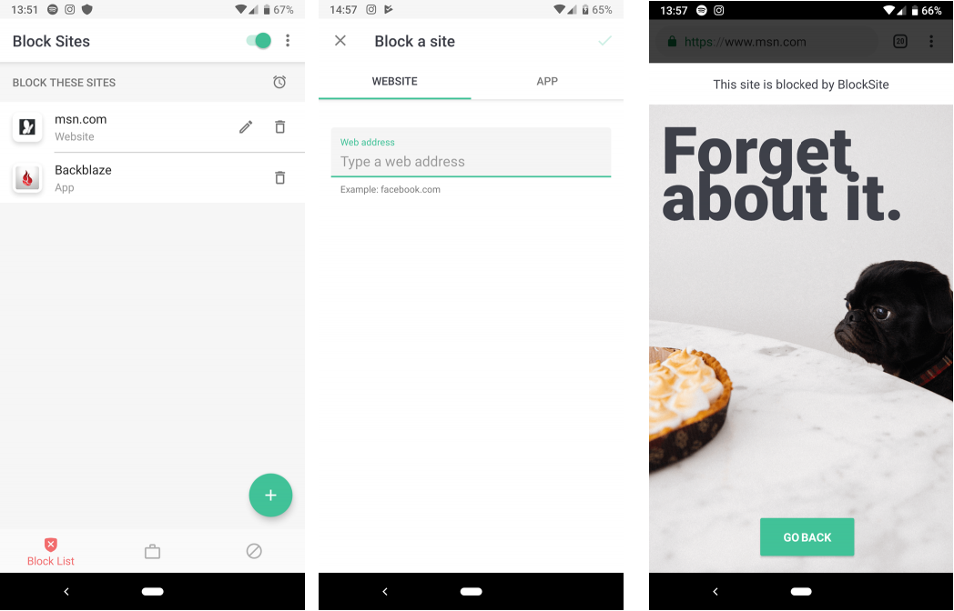 BlockSite App for Android