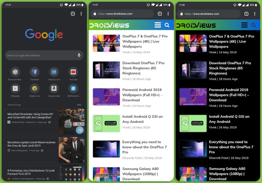 chrome browser dark mode